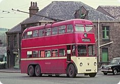 No 543, 41 on its way to the Bradley terminus, Huddersfield trolley buses