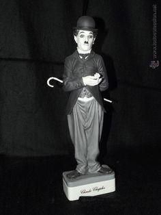Charlie Chaplin en auténtica porcelana de Algora certificada. Perfecto estado con bastón original - Foto 1