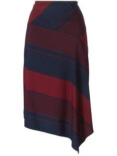 Achetez Tory Burch jupe asymétrique à rayures diagonales.
