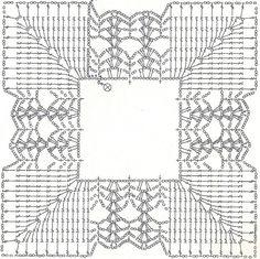 Quadrato con margherita centrale - Schema quadrato