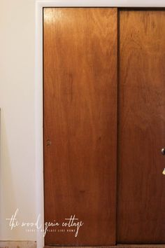 Makeover Week: Updating The Old Closet Doors U0026 More. Mirror Closet  DoorsWood Sliding ...