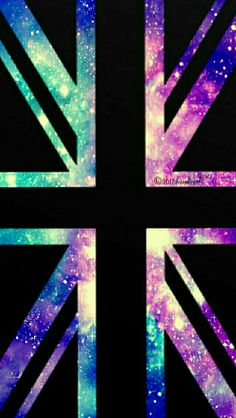 British flag galaxy iPhone/Android wallpaper I created for the app CocoPPa!