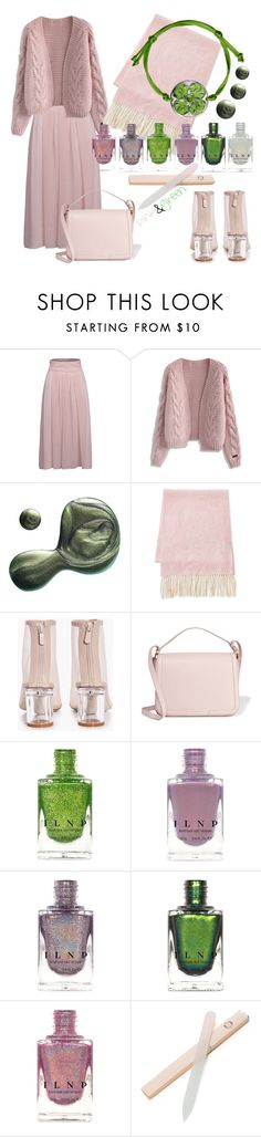 """""""pink&green"""" by ledile ❤ liked on Polyvore featuring Chicwish, Illamasqua, Fraas, Boohoo, Dolce&Gabbana, Pink, GREEN and ledile"""