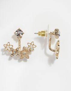 Image 1 ofOasis Curve Flower Through & Through Earrings