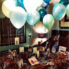 Did this for my roommates 22nd birthday 22 balloons with pictures