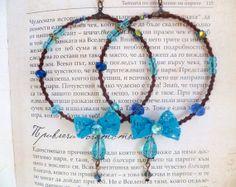Boho hoop earrings with lace ribbons hand by HamelinsSecretGarden, $15.00