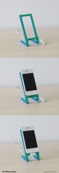 DIY iPhone Stand made of wood.: #iphonediy