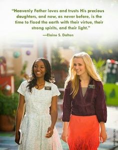 Sister missionary. virtuous daughters. choicest daughters