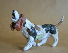 Unique Whimsical Paper Mache Dog Sculpture with Collar