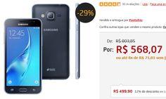 """Samsung Galaxy J3 Duos Dual Chip Tela 5.0"""" Câmera 8MP Processador Quad Core de 1.5 Ghz - 3 Cores Disponíveis << R$ 49990 >>"""