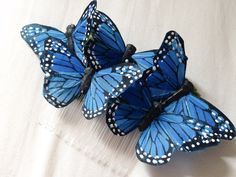 Monarch glen feather butterfly hair comb por prettylittletitch