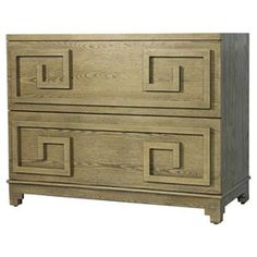 2 DRAWER CHEST LIMED OAK