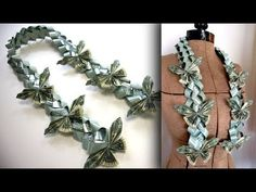 How to Make a Money Butterfly Lei for Graduation – Tutorial – redpapoa Money Lay For Graduation, Graduation Leis, Graduation Decorations, Money Lei, Money Origami, Dollar Origami, How To Make Butterfly, Money Bouquet, Creative Money Gifts