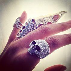 Full Finger Nail Cover Ring, $18.00