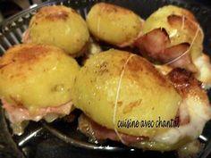 """La meilleure recette de Pommes de terre savoyardes """"une recette de saison""""! L'essayer, c'est l'adopter! 5.0/5 (12 votes), 5 Commentaires. Ingrédients: 4 belle pommes de terre, 2 belles tranches de jambon cuit,    4 tranches de comté assez fines, 5O g de  beurre"""