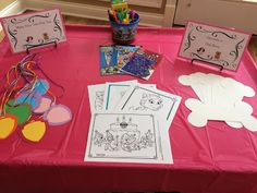 Arts & Crafts Station - Paw Patrol Birthday Party
