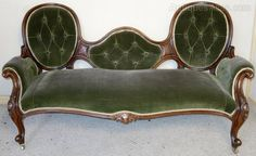 Victorian Rosewood Double Spoon Back Settee - Antiques Atlas
