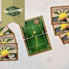 """Our Famous Games Company sells vintage-inspired two-player sports card games such as """"Famous Forehand: The World's Smallest Tennis Game"""". This fun tennis game is part of our Beginner Collection of easy card games designed for new players."""