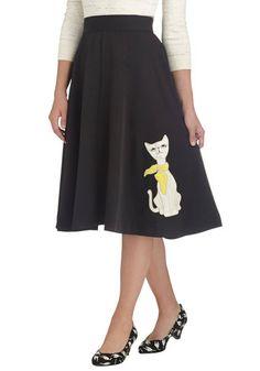 1950s black poodle... I mean cat skirt.