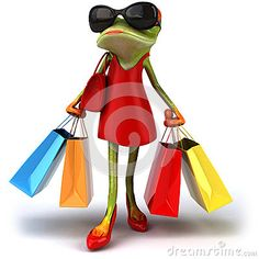 A wonderful day of shopping Funny Frogs, Cute Frogs, Amphibians, Reptiles, Lizards, Frog Pictures, Frog Pics, Tortoise Tattoo, Frog Illustration