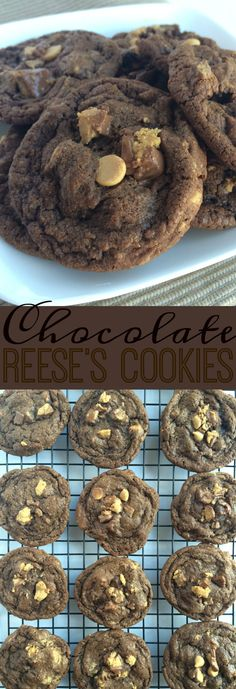 Chocolate Reese's Cookies - Together as Family