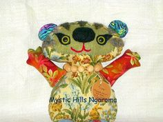 Fabric Art Bear Ollie The Whimsy  Artist by MysticHillsNgaroma