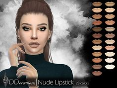 The Sims Resource: DD Nude Lipstick by ddcreations • Sims 4 Downloads