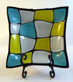 The Retro Turtle Fused Glass Bowl DLC Glass Studio LLC - $65.00 - Handmade Crafts by DLC Glass Studio, LLC