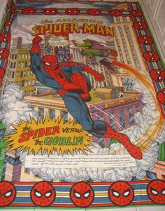 Vintage Retro 1982 Amazing SPIDER MAN Duvet Cover / Single Bed Throw Over Kitsch | eBay
