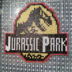 Jurassic Park perler beads by boomboom_vw20th
