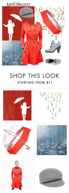 """April Showers Contest"" by glinwen ❤ liked on Polyvore featuring Hunter, Cole Haan, Sonoma life + style and Hogan"