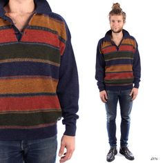 Mens Knit Polo Sweater