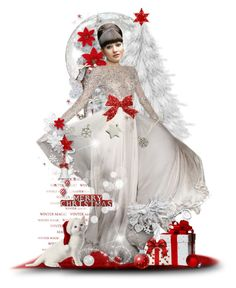 """""""Red & White Christmas"""" by tracireuer ❤ liked on Polyvore featuring art"""