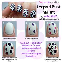 A really simple way to do the leopard print, but it still looks great!