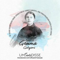 Santa Gemma Galgani🖤 Saints, Christianity, Blessed, Movies, Movie Posters, Patron Saints, Gods Love, Catholic Art, Inspirational Quotes