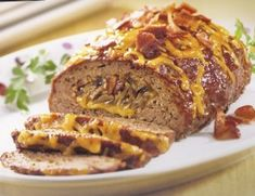 BBQ Stuffed Meatloaf - my hubs never knrew Meatloaf could be like this!! The Deep Covered Baker is tha bomb! www.pamperedchef.biz/cookingwithcora
