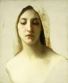 William-Adolphe Bouguereau (1825-1905 French) • Study of a Womans Head