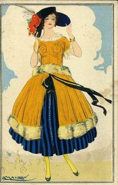 Achille Mauzan : Vintage Illustration