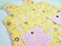 Yellow Garden Baby Dress  Toddler Dress  Baby Girl by LoopsyBaby, $24.00
