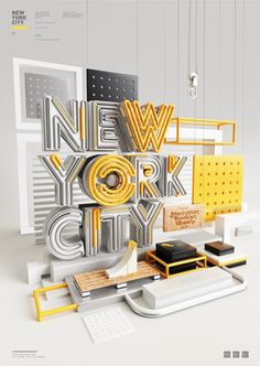 New York City - 3D Lettering by Peter Tarka