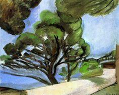 Road in Cap d'Antibes - The Large Pine / Henri Matisse - 1926