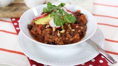 Vegan walnut 'meat' chili