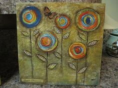scrapbook paper and canvas......