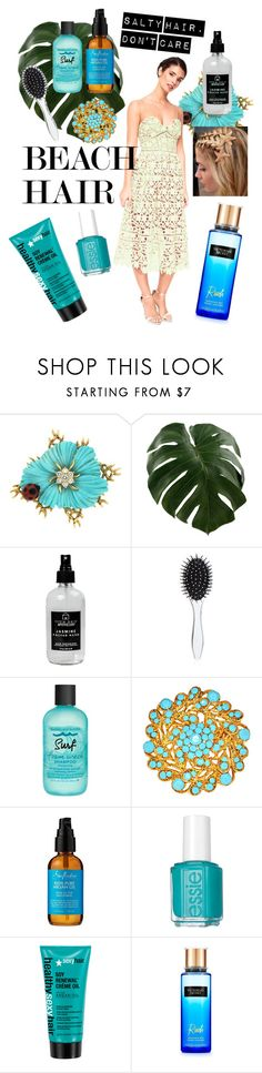 """""""Beach hair with a dress"""" by chicbychoiceworld on Polyvore featuring beauty, Little Barn Apothecary, New Look, Bumble and bumble, SheaMoisture, Essie, dress, beachhair, chicbychoice and rentthelook"""