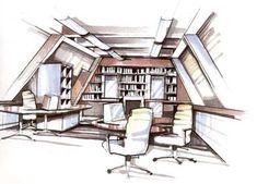 perspectief tekenen interieur - Google zoeken