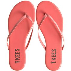 T KEES Assorted TKEES Flip Flops (130 BRL) ❤ liked on Polyvore featuring shoes, sandals, flip flops, flats, summer shoes, flat thong sandals, t kees, toe thong sandals and flat heel shoes