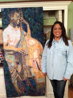 "Tammie Bowser with some of her work featured in ""Quilting Arts TV"" Series 1500. This series will start airing in January 2015. #QATV"
