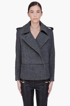 By Malene Birger Charcoal Wool Febiola Jacket。