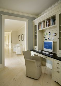 Love the built-in book-cases on sides and overhead. How would it look with…