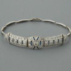 Art Deco Diamond Bracelet Antique SapphiresTotally matches my wedding ring